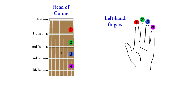 Guitar Note Fingering Chart