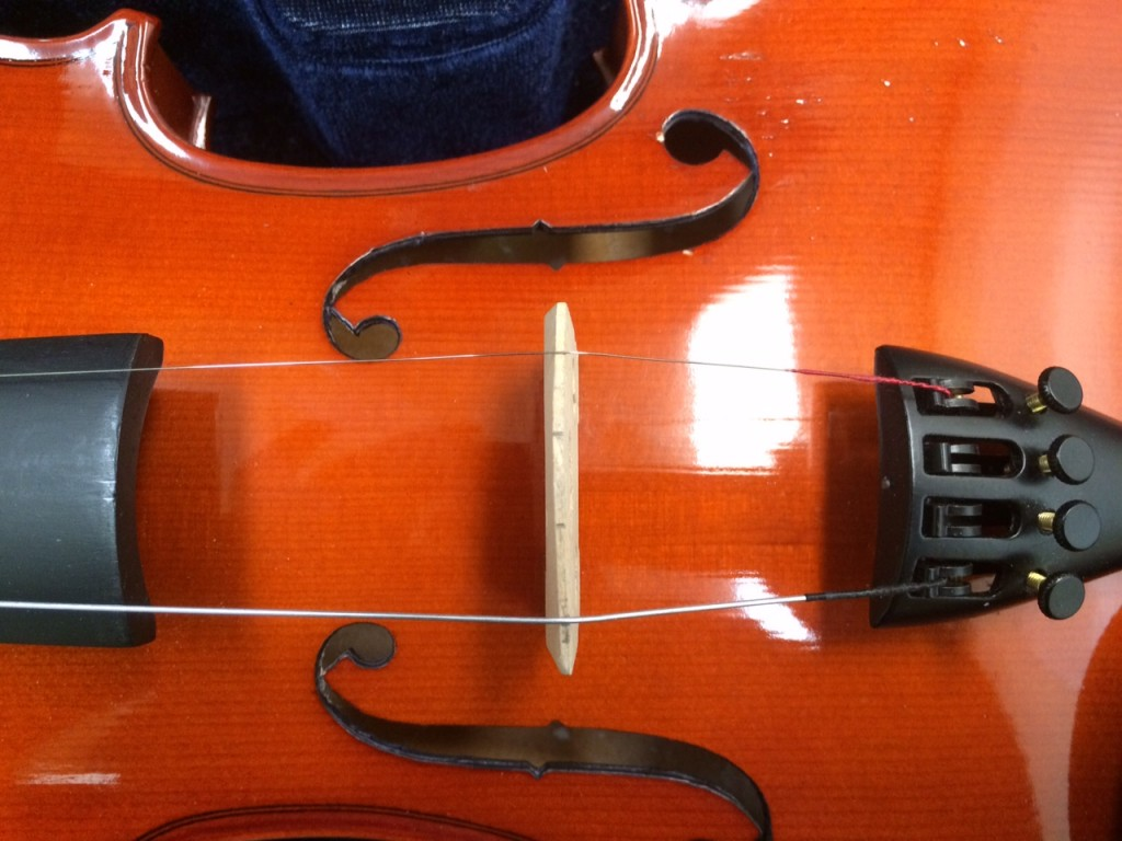 Violin Bridge Standing Position