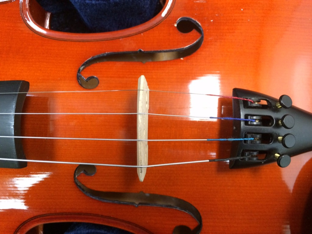 Properly Strung Violin Bridge