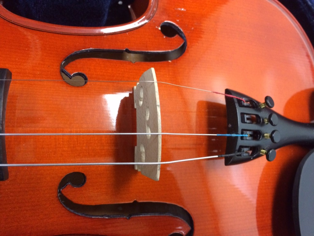 Violin Bridge With Strings